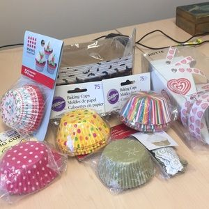 Other - Cupcake baking cups and baking assortment